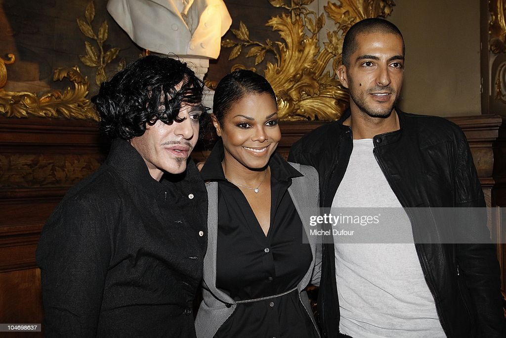 John Galliano, Janet Jackson and Wissam Al Mana attend the John Galliano Ready to Wear Spring/Summer 2011 show during Paris Fashion Week at Opera Comique on October 3, 2010 in Paris, France.