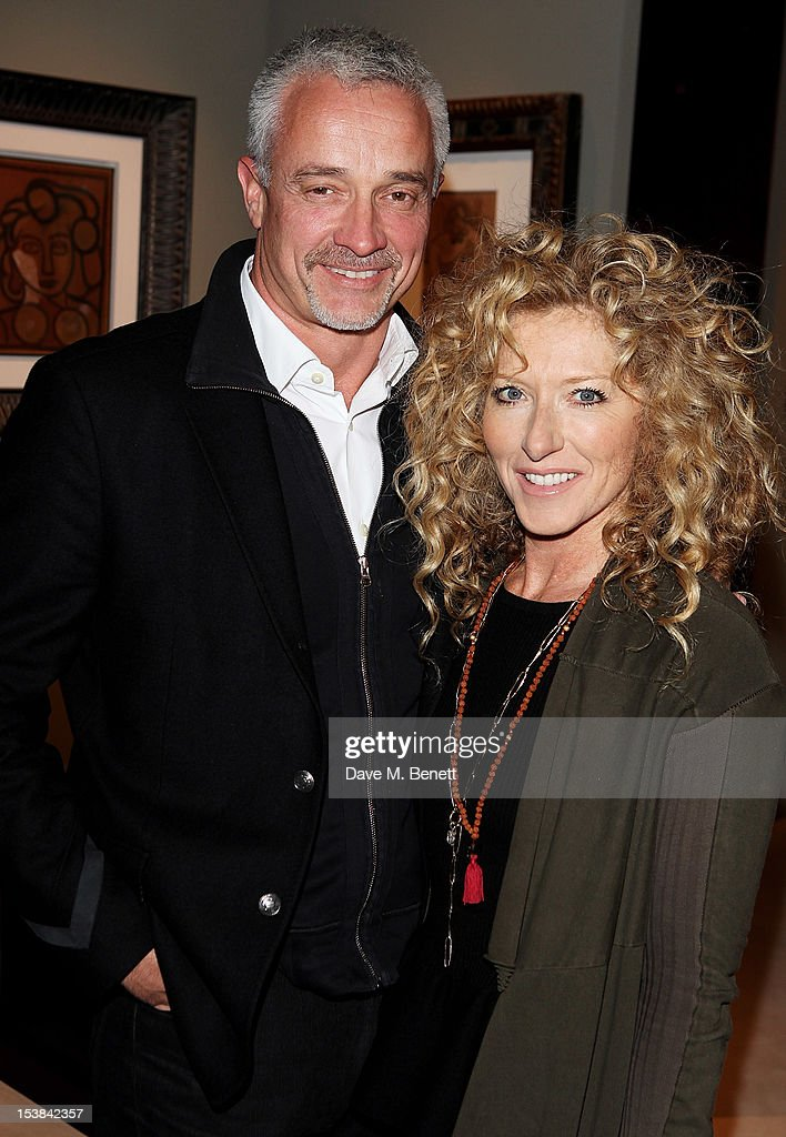 John Gardiner (L) and <a gi-track='captionPersonalityLinkClicked' href=/galleries/search?phrase=Kelly+Hoppen&family=editorial&specificpeople=214726 ng-click='$event.stopPropagation()'>Kelly Hoppen</a> attend a private preview of the PAD London 2012 Pavilion of Design in Berkeley Square Gardens on October 9, 2012 in London, England.