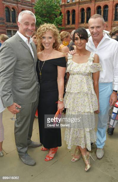 John Gardiner Kelly Hoppen Jackie St Clair and Carl Michaelson attend the 2017 annual VA Summer Party in partnership with Harrods at the Victoria and...
