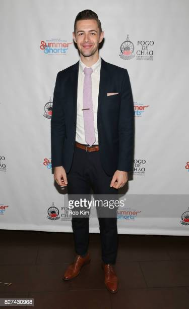 John Garrett Greer attends the OffBroadway opening night party for 'SUMMER SHORTS 2017' at Fogo de Chao Churrascaria on August 7 2017 in New York City