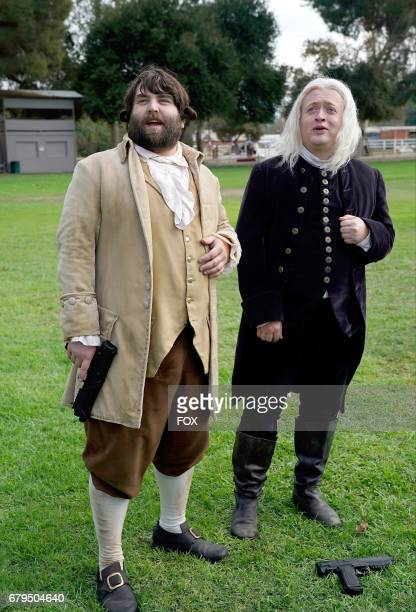 John Gemberling and Neil Casey in the 'The Duel' episode of MAKING HISTORY airing Sunday May 7 on FOX