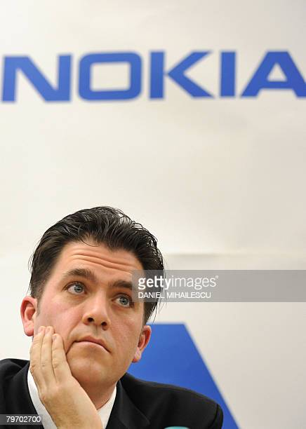 John Gerry General Manager of the Finnish cellphone maker Nokia factory in Romania attends the inauguration of the Nokia's first assembly line of a...