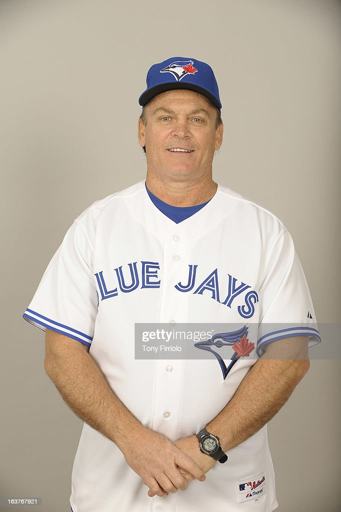 John Gibbons #5 of the Toronto Blue Jays poses during Photo Day on February 18, 2013 at Florida Auto Exchange Stadium in Dunedin, Florida.