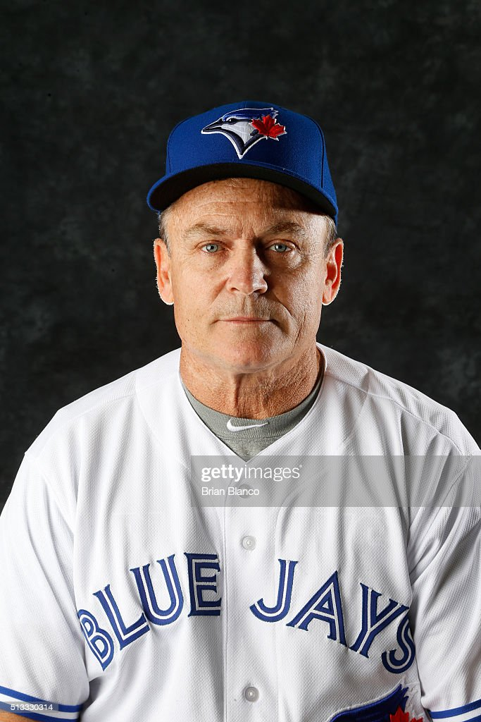 John Gibbons #5 of the Toronto Blue Jays poses for a photo during the Blue Jays' photo day on February 27, 2016 in Dunedin, Florida.