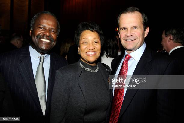 John Gibbs Geraldine Gibbs and Jack Griffin attend PARADE MAGAZINE and SI Newhouse Jr honor Walter Anderson at The 4 Seasons Grill Room on March 31...