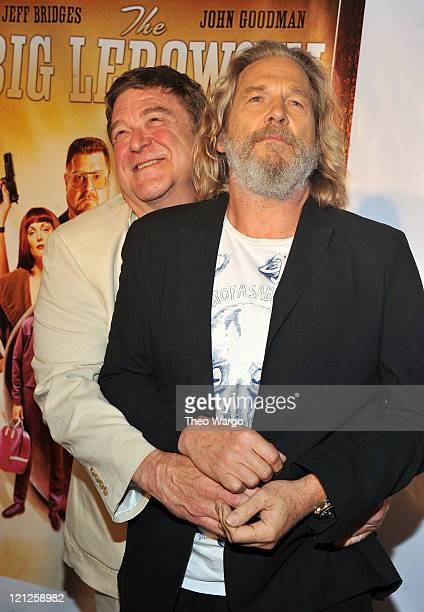 John Goodman and Jeff Bridges attend 'The Big Lebowski' Bluray release at the Hammerstein Ballroom on August 16 2011 in New York City