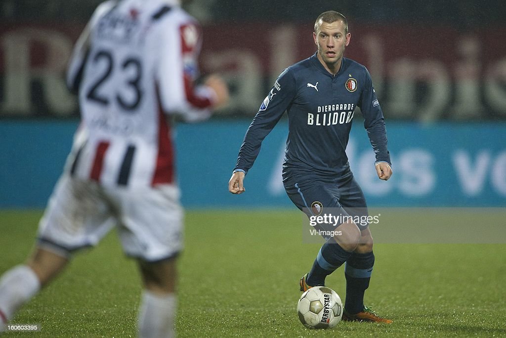 John Goossens of Feyenoord during the Dutch Eredivisie match between Willem II and Feyenoord at the Koning Willem II Stadium on february 3, 2013 in Tilburg, The Netherlands