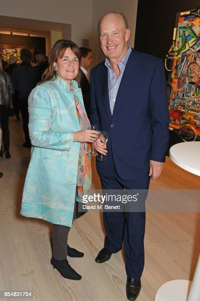 John Gosden attends the private view and launch of Sacha Jafri's 18 year retrospective global tour 'Universal Consciousnes' at The Saatchi Gallery on...