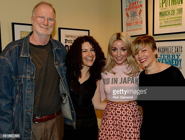 John Grady President IRS Records Abi Tapia CMHOF Ashley Monroe and Ali Tonn CMHOF backstage during the Country Music Hall Of Fame Museum Presents...