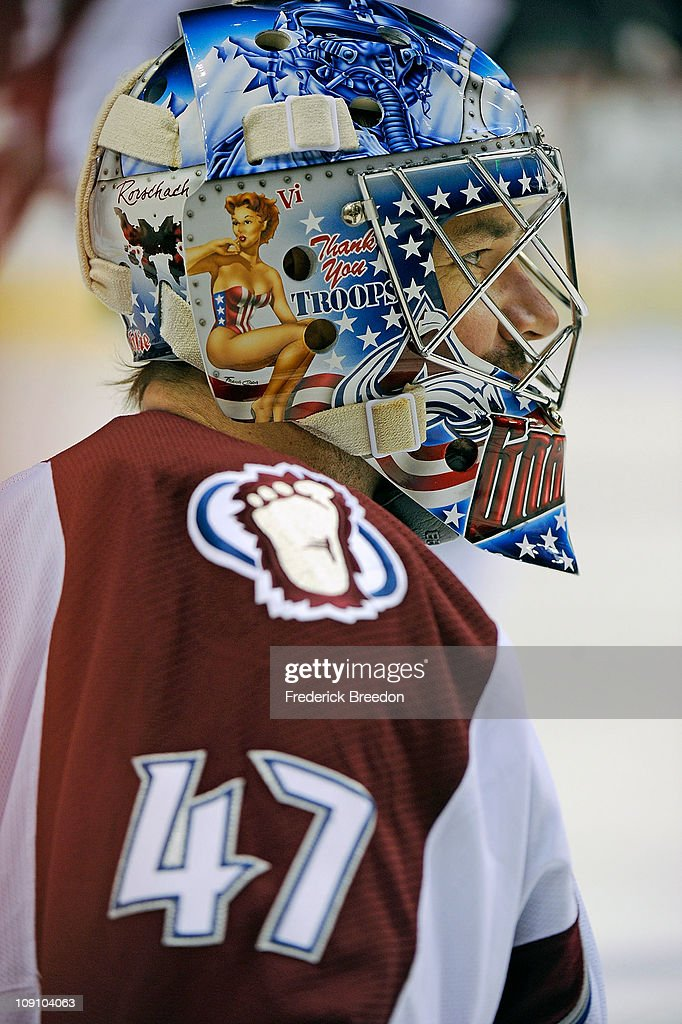 <a gi-track='captionPersonalityLinkClicked' href=/galleries/search?phrase=John+Grahame&family=editorial&specificpeople=201491 ng-click='$event.stopPropagation()'>John Grahame</a> #47 of the Colorado Avalanche looks on during the game against the Nashville Predators on February 12, 2011 at the Bridgestone Arena in Nashville, Tennessee.