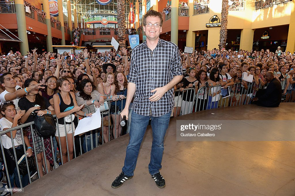 John Green attends the The Fault In Our Stars Miami Fan Event at Dolphin Mall on May 6, 2014 in Miami, Florida.