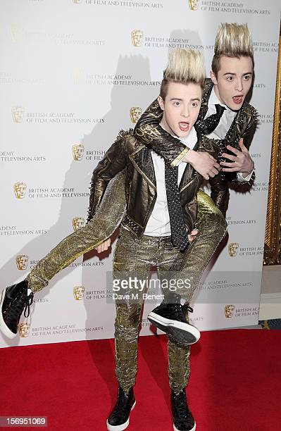 John Grimes and Edward Grimes aka Jedward arrive at the British Academy Children's Awards at the London Hilton on November 25 2012 in London England