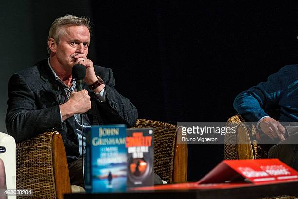 John Grisham attends a conference held during 11th edition of Quai du Polar Festival on March 29 2015 in Lyon France
