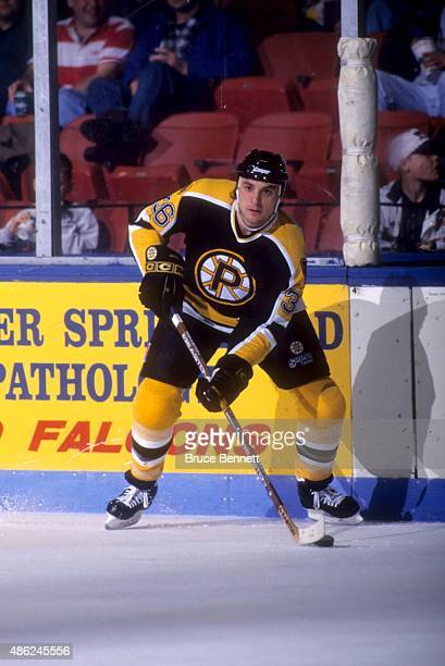 John Gruden of the Providence Bruins looks to pass during an AHL game in January 1996