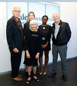 John Guare Francine Horn Carolyn Cantor Janine Nabers and Nicholas Wright attend 8th Annual Yale Drama Series Awards Ceremony at Lincoln Center...