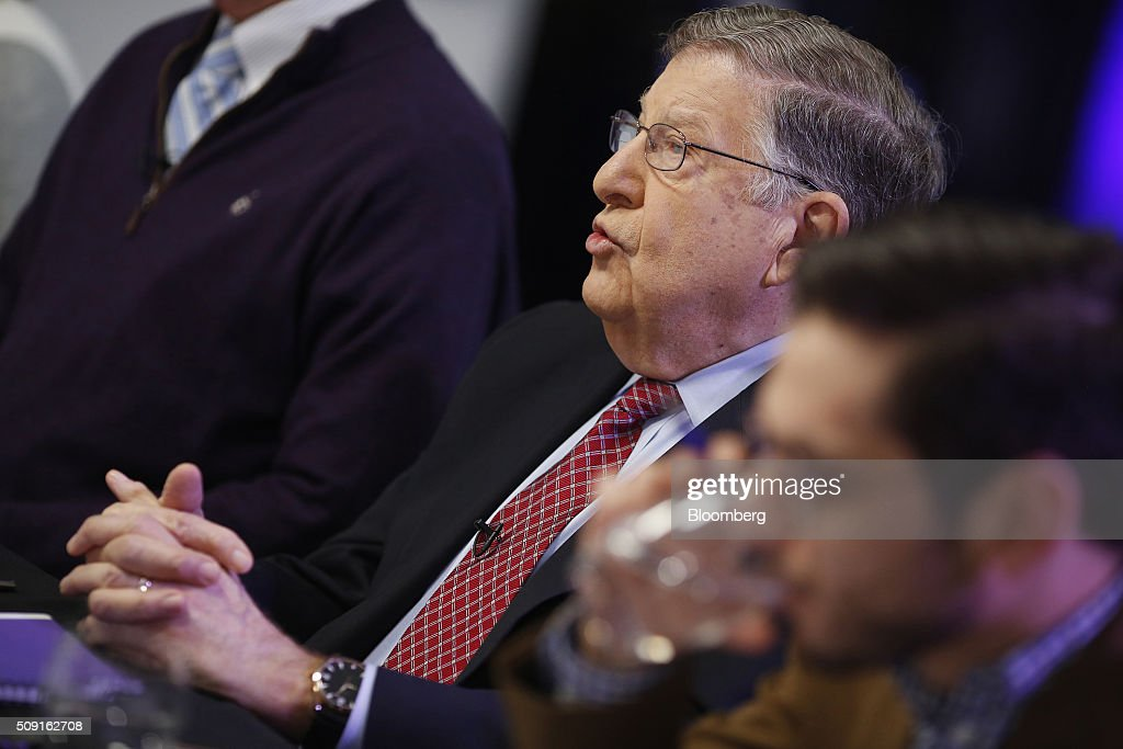 <a gi-track='captionPersonalityLinkClicked' href=/galleries/search?phrase=John+H.+Sununu&family=editorial&specificpeople=201649 ng-click='$event.stopPropagation()'>John H. Sununu</a>, former governor of New Hampshire, speaks during a Bloomberg Politics interview in Manchester, New Hampshire, U.S., on Tuesday, Feb. 9, 2016. Sununu, an outspoken Trump critic, said a national convention this summer 'that starts undecided is quite possible.' Photographer: Luke Sharrett/Bloomberg via Getty Images