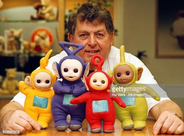 John Hales chairman of toymakers Golden Bear Products with Teletubbies in his factory showroom Hales's plant in Telford Shropshire cannot manufacture...