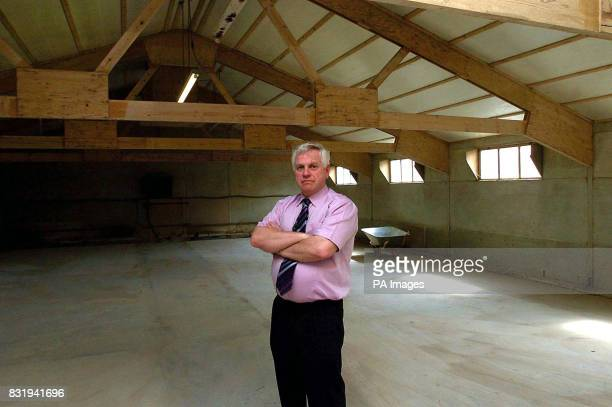 John Hall the brother of Chris Hall the soninlaw of Gladys Hammond in the empty buildings of his guinea pig business which he was forced to close...