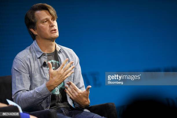 John Hanke chief executive officer of Niantic Inc speaks during the Wall Street Journal DLive global technology conference in Laguna Beach California...