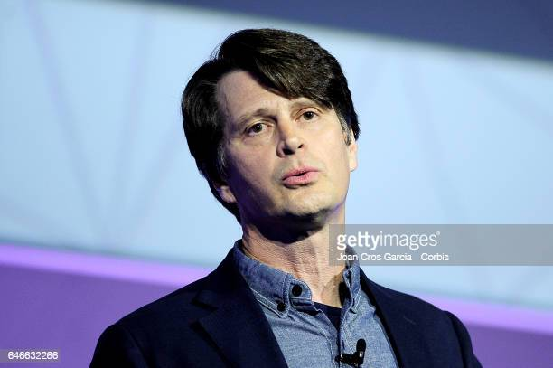 John Hanke Founder and CEO of Niantic and creator of Pokemon Go giving a conference during the Mobile World Congress on February 28 2017 in Barcelona...
