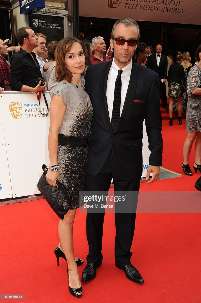 John Hannah and wife Joanna Roth arrives at the Philips British Academy Television Awards at the London Palladium on June 6, 2010 in London, England.