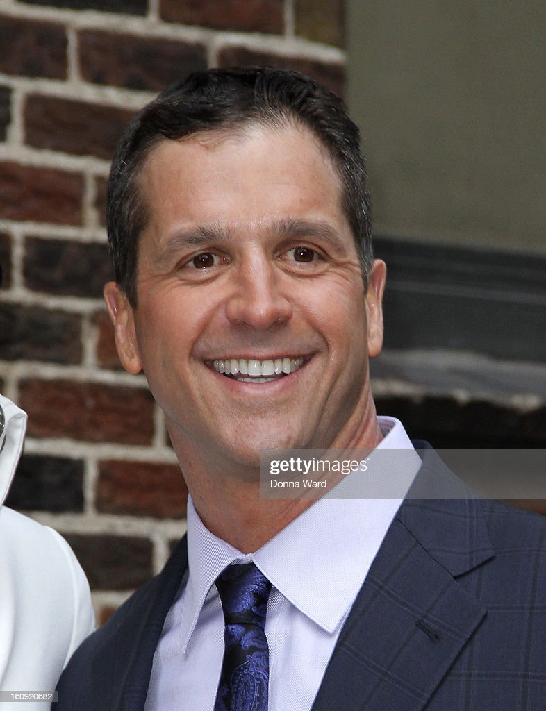 <a gi-track='captionPersonalityLinkClicked' href=/galleries/search?phrase=John+Harbaugh&family=editorial&specificpeople=763525 ng-click='$event.stopPropagation()'>John Harbaugh</a> leaves 'The Late Show with David Letterman' at Ed Sullivan Theater on February 7, 2013 in New York City.