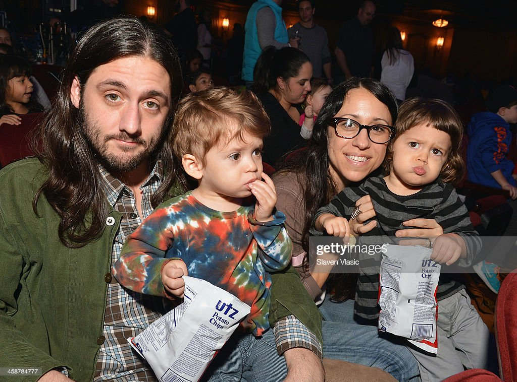 John Harrison and Ahna Tessler with children attend 'Yo Gabba Gabba! Live!' at The Beacon Theatre on December 21, 2013 in New York City.