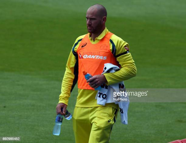 John Hastings of Australia during the ICC Champions Trophy match Group A between Australia and Bangladesh at The Oval in London on June 05 2017