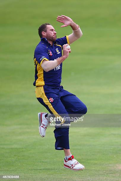 John Hastings of Durham during the Royal London One Day Cup Group A match between Gloucestershire and Durham at The County Ground on August 4 2015 in...