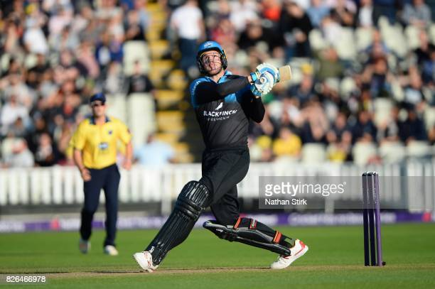 John Hastings of Worcestershire Rapids batting during the Natwest T20 Blast match between Birmingham Bears and Worcestershire Rapids at Edgbaston on...
