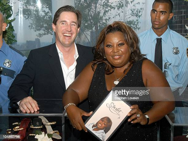 John Haugh of Payless and Star Jones during Star Jones Unveils her Premiere Shoe Collection 'Starlet' at Hudson Penthouse in New York City New York...