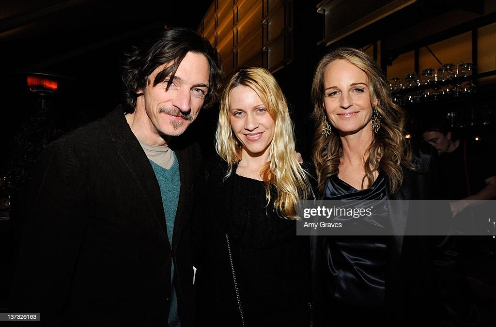 John Hawkes Tecia Esposito and Helen Hunt attend The Broad Stage Production of Thornton Wilder's 'Our Town' on January 18 2012 in Santa Monica...