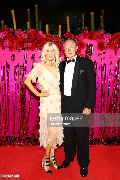 John Hawkesby and Kate Hawkesby arrive ahead of the NZ TV Awards at Sky City on November 30 2017 in Auckland New Zealand