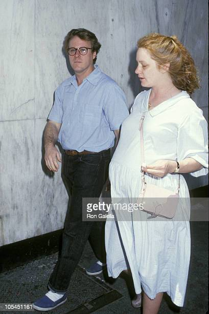 John Heard and guest during Geraldine Page Memorial at Neil Simon Theater in New York City New York United States