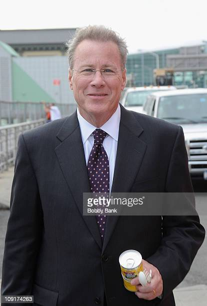 John Heard poses while filming on location for 'Too Big to Fail' on the streets of Manhattan on October 25 2010 in New York City