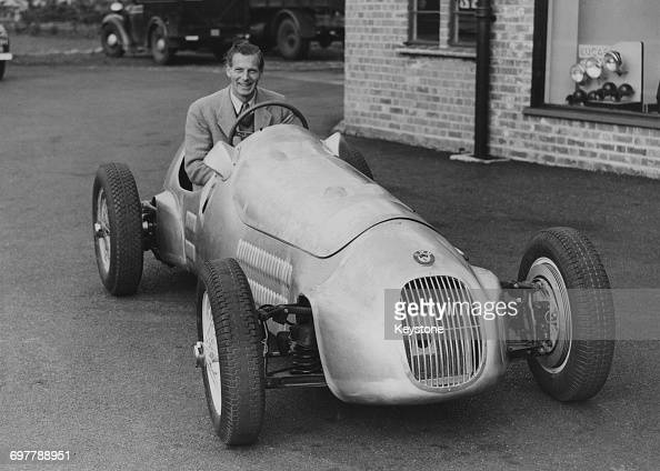 John Heath coowner of racing car constructor Hersham and Walton Motors at the wheel of the company's latest Altaengined Formula Two car 23rd February...