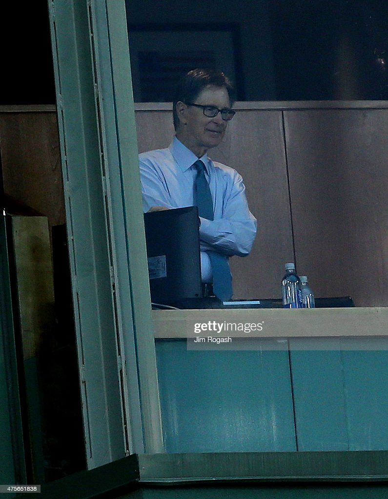 John Henry, owner of the Boston Red Sox watches in the second inning against the Minnesota Twins inning at Fenway Park on June 2, 2015 in Boston, Massachusetts.