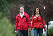 John Henry principal owner of the The Boston Globe Boston Red Sox and Liverpool Football Club and his wife Linda attend the Allen Company Sun Valley...