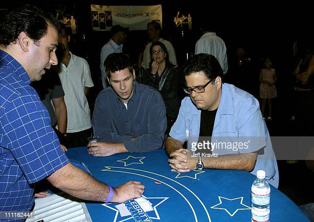 John Henson and David Anthony Higgins during Celebrity Blackjack Matt Vasgersian hosts Celebrity Blackjack a one hour weekly tournament featuring 40...
