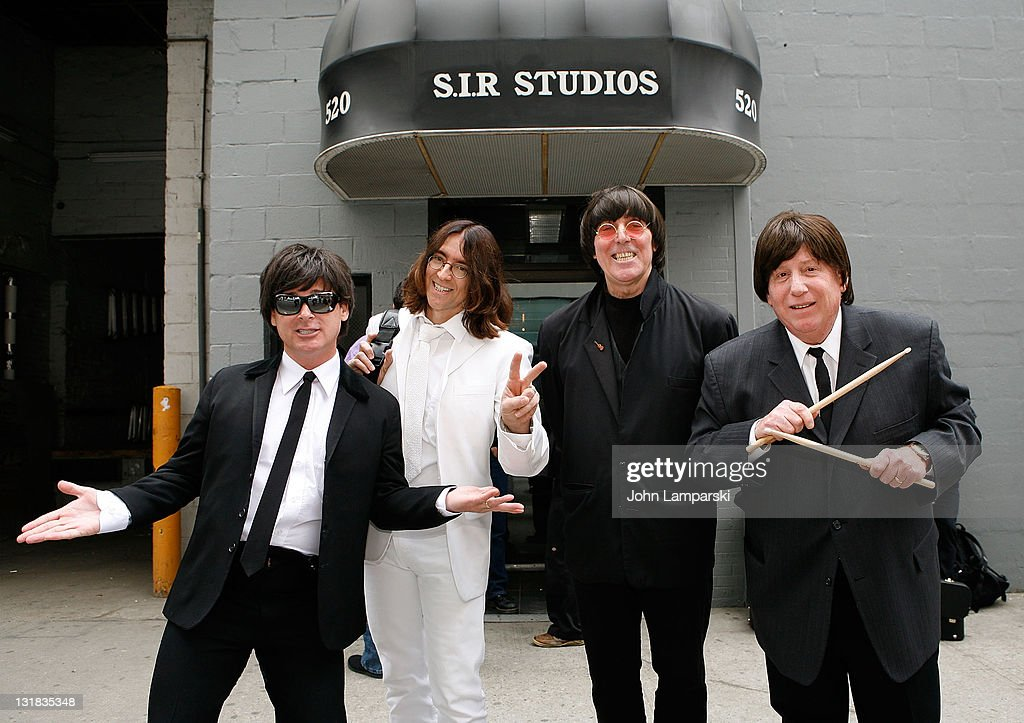 John Hepburn, Tom Raider, Pete Sanra and Rusty Yardum attend the auditions for 'RAIN: A Tribute to the Beatles on Broadway' at SIR Studios on May 11, 2011 in New York City.
