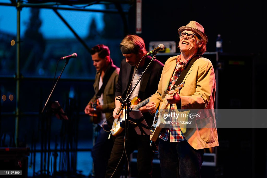 John Hiatt & The Combo perform on stage on Day 3 of Waterfront Blues Festival at Tom McCall Waterfront Park on July 7, 2013 in Portland, Oregon.