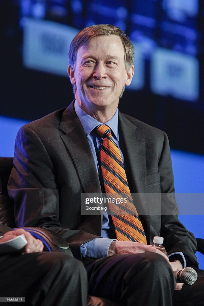 <a gi-track='captionPersonalityLinkClicked' href=/galleries/search?phrase=John+Hickenlooper&family=editorial&specificpeople=4104050 ng-click='$event.stopPropagation()'>John Hickenlooper</a>, governor of Colorado, smiles during the 2014 IHS CERAWeek conference in Houston, Texas, U.S., on Wednesday, March 5, 2014. IHS CERAWeek is a gathering of senior energy decision-makers from around the world to focus on the accelerating pace of change in energy markets, technologies, geopolitics, and the emerging playing field. Photographer: F. Carter Smith/Bloomberg via Getty Images