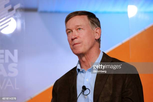 John Hickenlooper governor of Colorado speaks during the Aspen Ideas Festival in Aspen Colorado US on Tuesday July 1 2014 The festival gathers some...