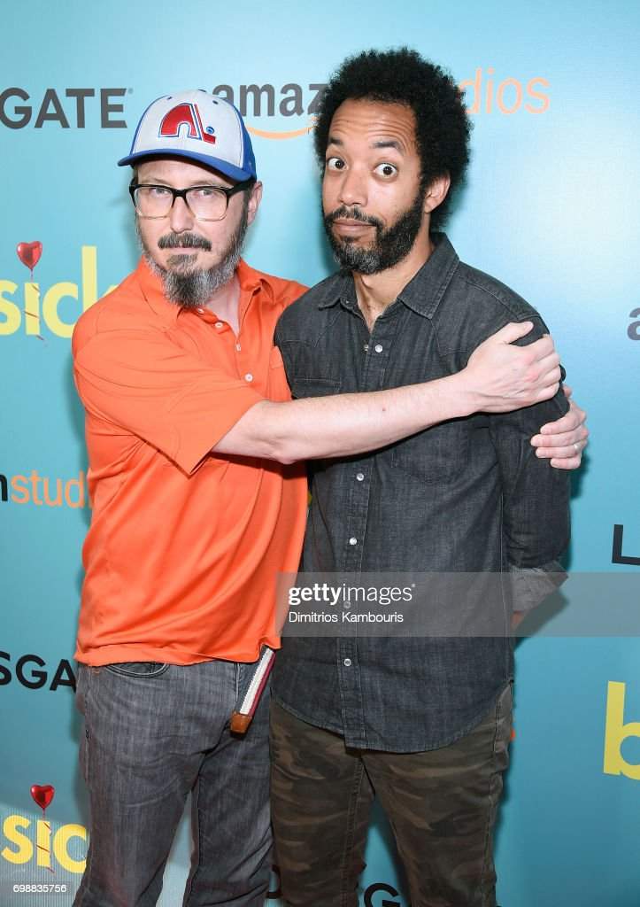 John Hodgman and Wyatt Cenac attends 'The Big Sick' New York Premiere at The Landmark Sunshine Theater on June 20, 2017 in New York City.