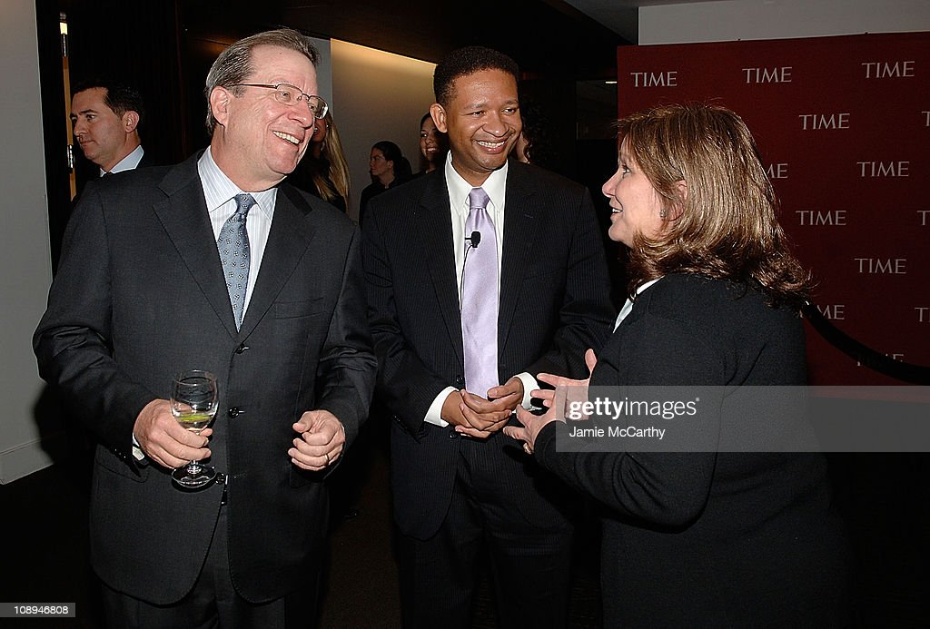 John Huey editorinchief of Time Inc Congressman Artur Davis and Elizabeth Edwards attend TIME's Person of the Year Luncheon at Time Life Building on...