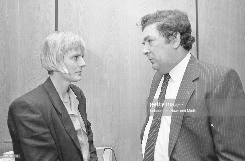 John Hume MP who was speaking for the motion on The Late Late Show chats to Jean Tansey Chairperson of Divorce Action Group before he went on air...
