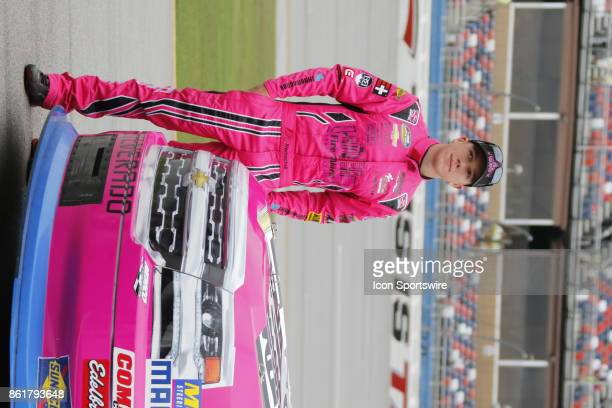 John Hunter Nemechek Fire Alarm Services Inc Chevrolet Silverado during qualifying for the Freds 250 Camping World Truck Series race on October 14...
