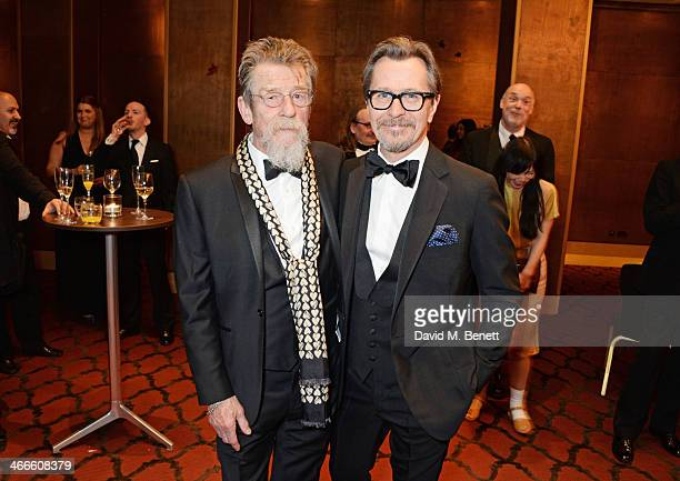 John Hurt and Gary Oldman attend the London Critics' Circle Film Awards at The Mayfair Hotel on February 2 2014 in London England