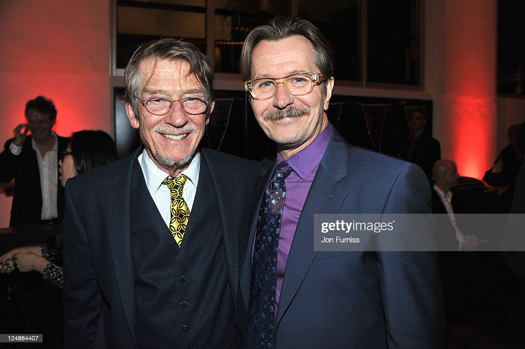 John Hurt and Gary Oldman attend the ' Tinker, Tailor, Soldier, Spy' UK premiere after party on September 13, 2011 in London, England.