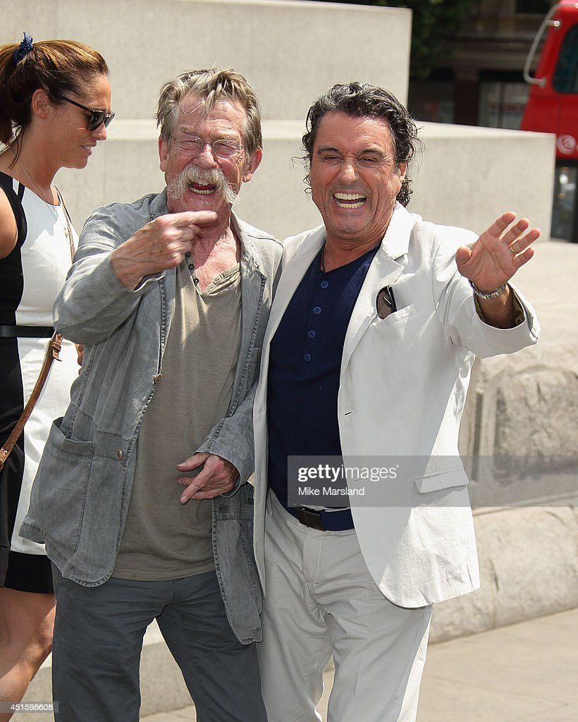 John Hurt and Ian McShane attend a photocall for 'Hercules' on July 2, 2014 in London, England.